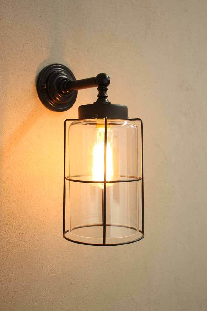 cream caged wall mounted outdoor bunker outdoor light instructions