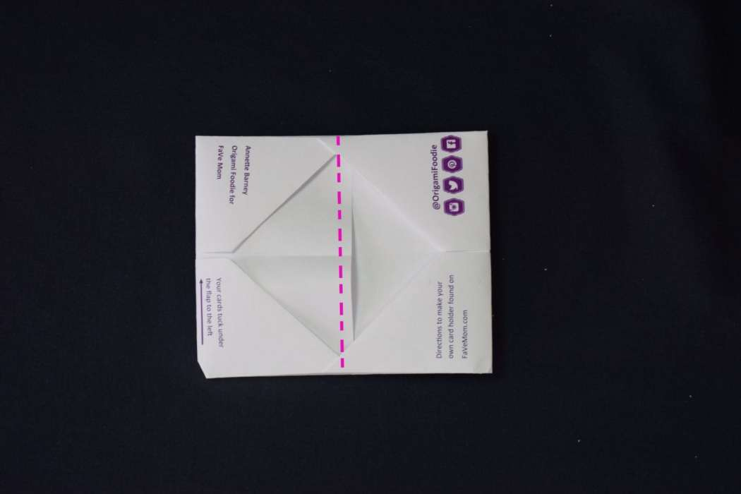 origami business card stand instructions