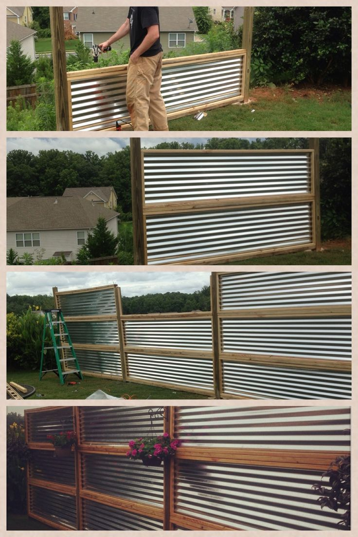 corrugated metal fence instructions