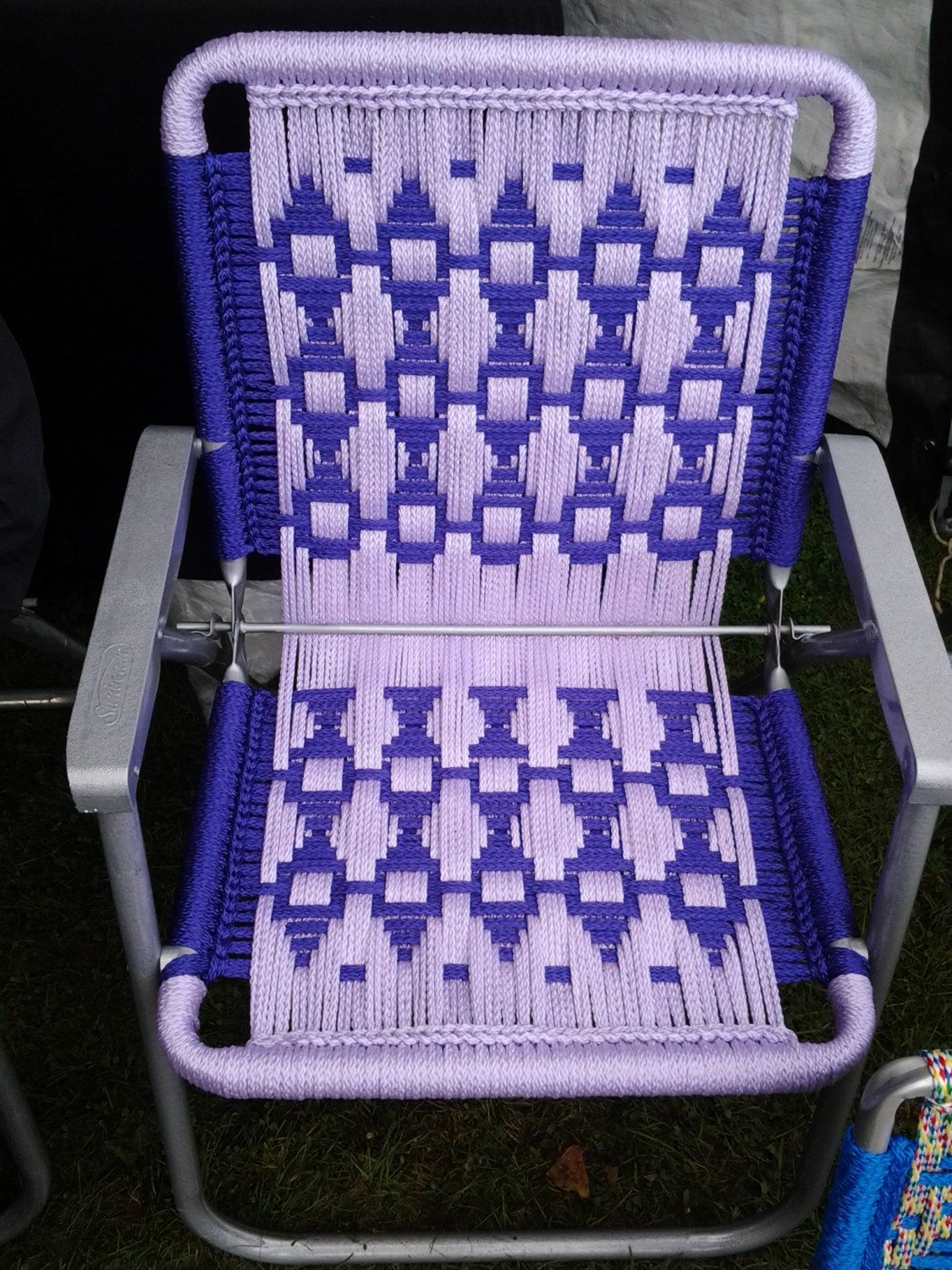 instructions for making macrame chairs
