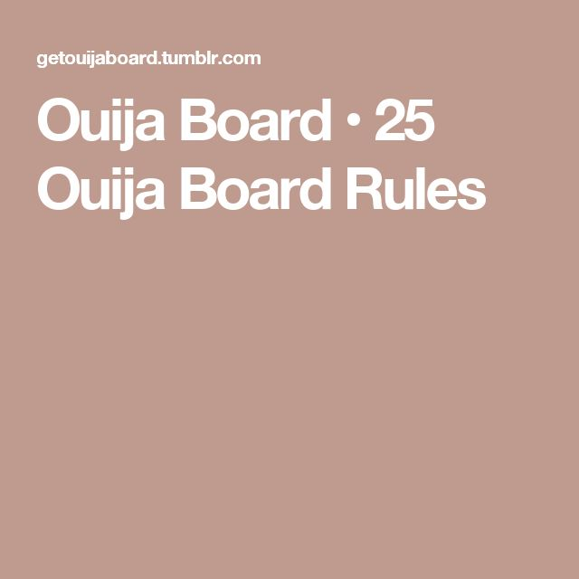 ouija board rules and instructions in malayalam