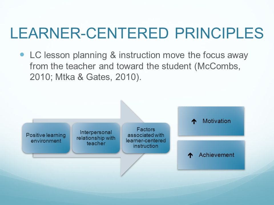 learner centered instruction examples