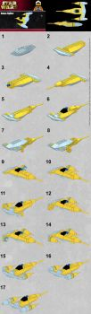 lego vulture droid microfighter instructions